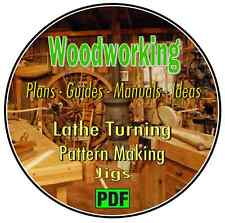 Woodworking & Lathe Turning Ideas - 1000's of Plans & Manuals on CD