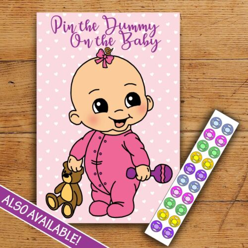 Baby Shower Predictions PINK Party Game Little Party Box 10 Pack