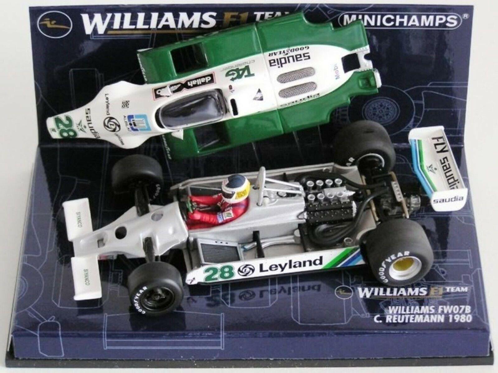 Wow extremadonnate raro Williams FW07B Reutemann Gp Hockenheim 1980 1 43 Minichamps