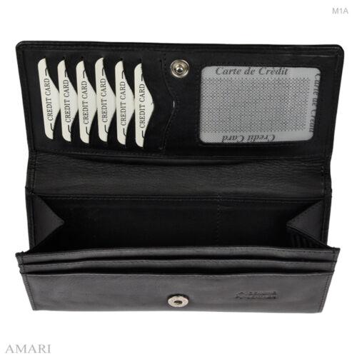 AMARI XXL ultraflache Geldtasche Geldbörse Nappaleder Portefeuille Brieftasche
