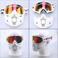 Motorcycle Goggles Nose Full Face Mask Protection Helmet Bicycle Shield Anti Fog