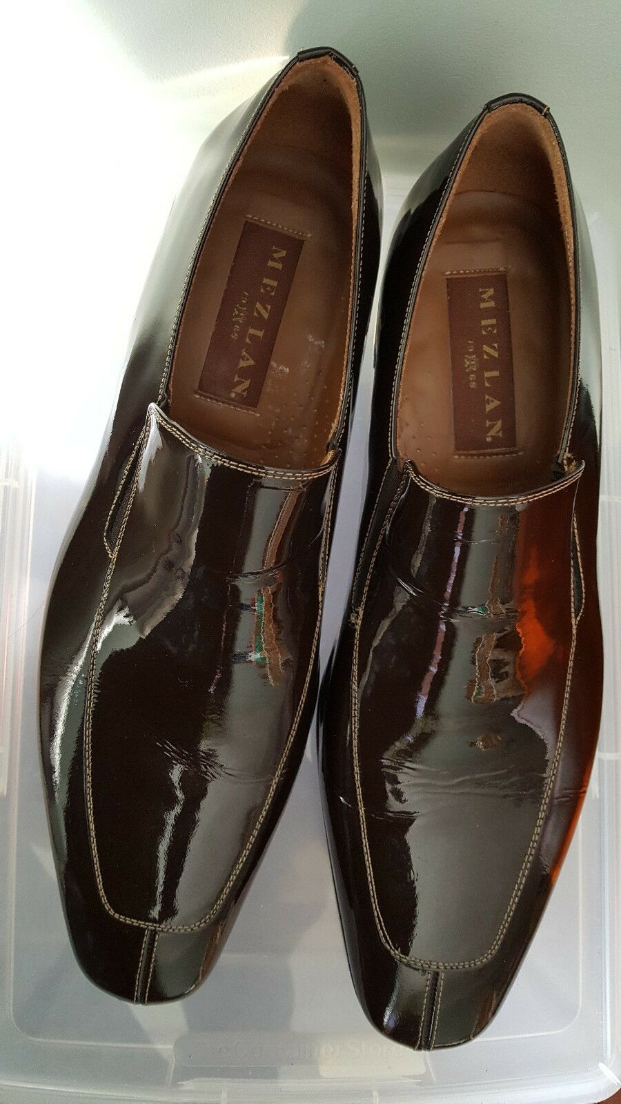 Mezlan 1968 vero cuoio Men's Jacque  shoes Size 10-1 2 made in Spain