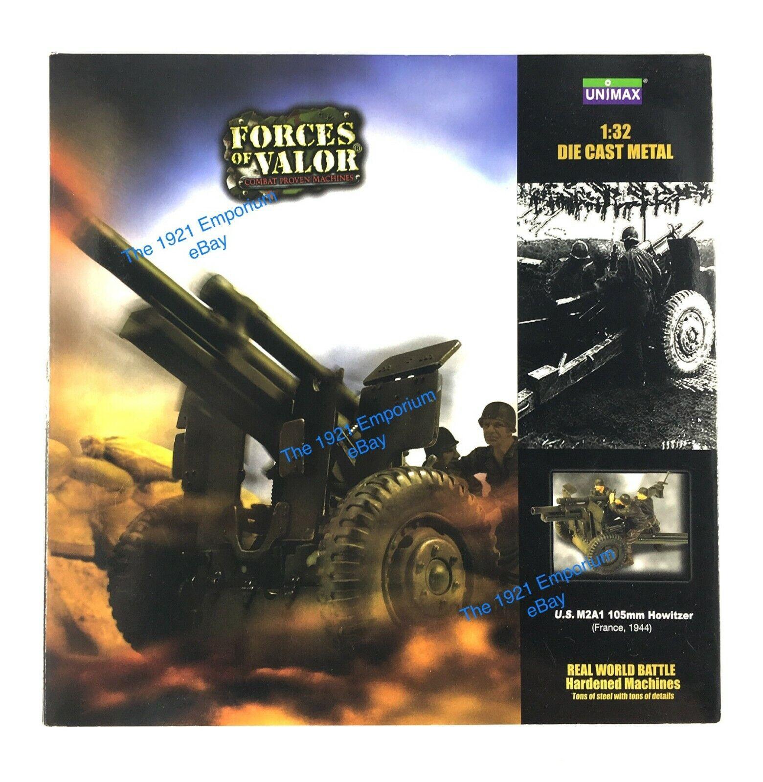 80% de descuento 1 32 Diecast Unimax Juguetes Forces of valor segunda guerra guerra guerra mundial us army 105mm Howitzer pistola  ventas en linea