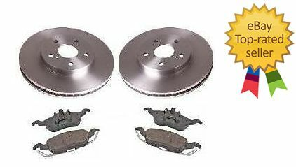FRONT BRAKE DISCS AND PADS SET FOR FORD STREET KA STREETKA 1.6 2003-