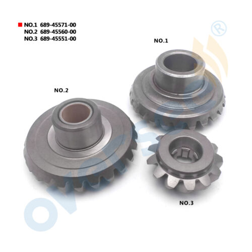 GEAR PINION SET 689-45571 689-45560 689-45551 For Yamaha Outboard Engine 25HP 30