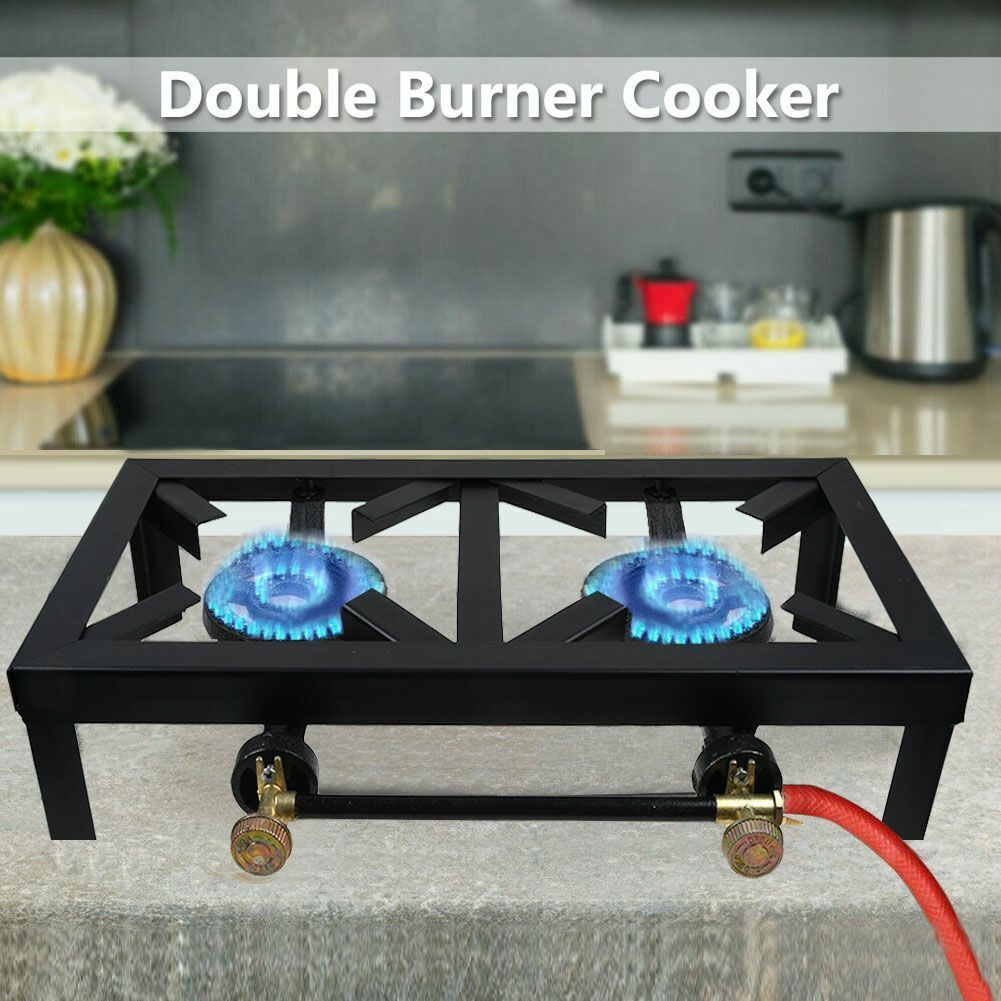 Burner Stove Portable Cast Iron Super Star Propane Gas Cooker for Patio Outdoor Camping BBQ