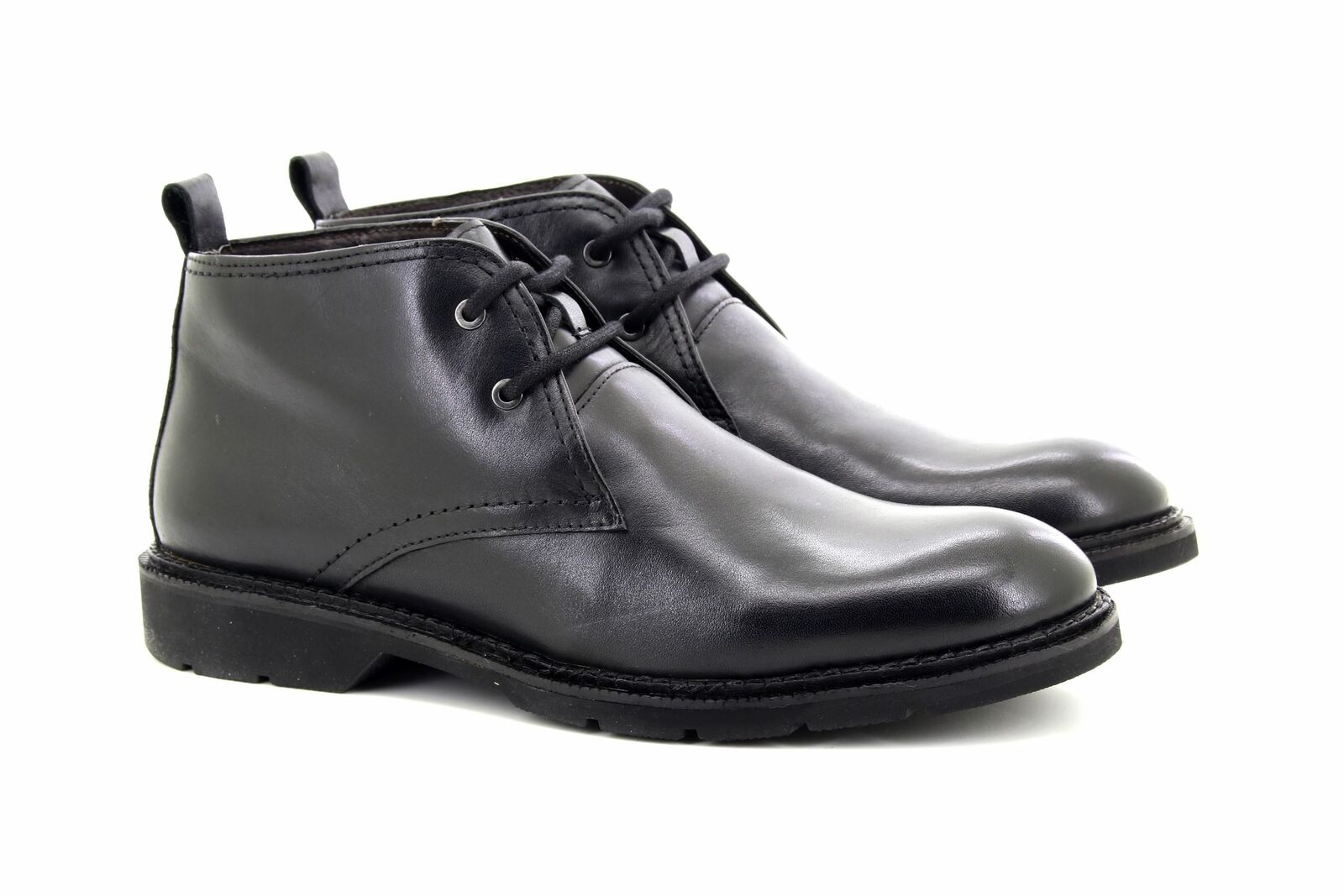 Roamers Flexmaster Ankle Boots Chukka Black Leather