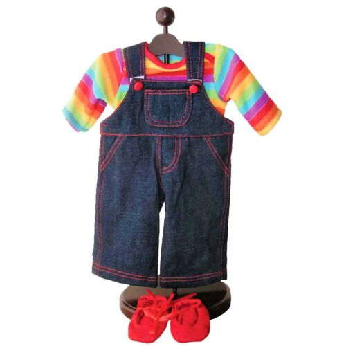 Two Twin 4pc Bitty Rainbow /& Denim Complete Outfits 15 In Baby Doll Clothes