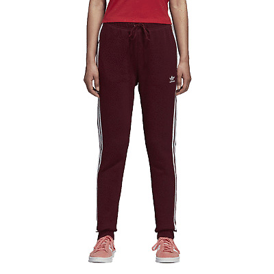 adidas Originals Regular Cuffed Track Pants (Maroon) Women's