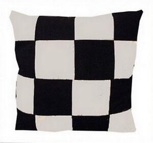 coussin damier noir et blanc HOUSSE DE COUSSIN DAMIER NOIR ET BLANC 60cmx60cm | eBay coussin damier noir et blanc
