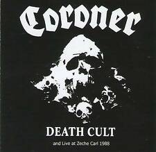 CORONER DEATH CULT + LIVE AT ZECHE CARL CD RARE Jewel Case 4 Page booklet+GIFT