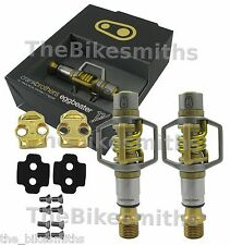 Crank Brothers Eggbeater 11 Gold Mountain Bike Pedals & Cleats CX Titanium 179g
