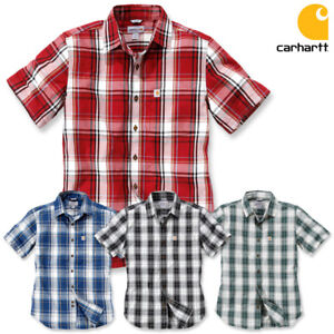 Shirts & Hemden Freizeithemden & Shirts Carhartt Herren Hemd Plaid Shirt Freizeithemd Kariert Holzfäller SLIM FIT  S-XXL