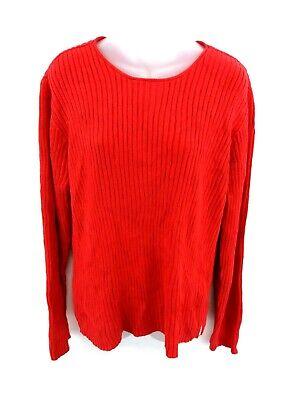 Gentile Calvin Klein Jeans Da Donna Maglione Pullover L Large Rossa Cotone-mostra Il Titolo Originale