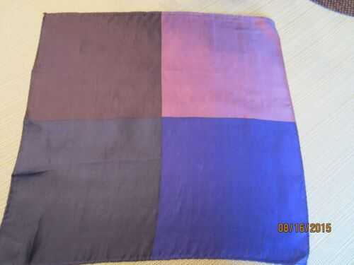 100/% Silk 4 Panel Pocket Square 16 Inch X 16 Inch