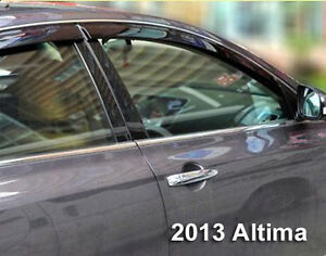 Image is loading FOR-NISSAN-ALTIMA-2013-2014-RAIN-WINDOW-DOOR- & FOR NISSAN ALTIMA 2013 2014 RAIN WINDOW DOOR GUARD VISOR WIND ...