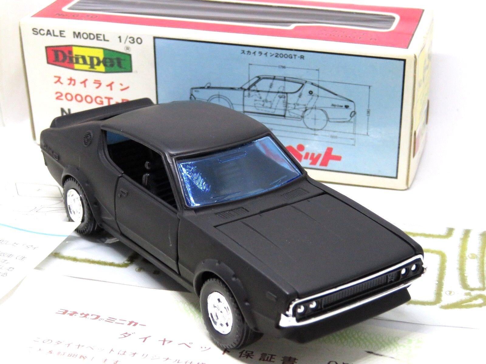 compras en linea Yonezawa DIAPET Nissan 2000GT-R All All All negro, G50 modelo muy raro, Caja papeleo.  lo último