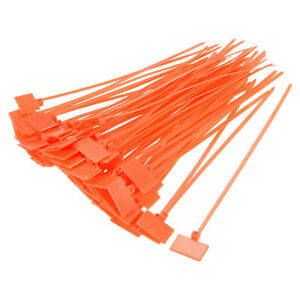 uxcell Cable Zip Ties 6 Inch Label Tag Mark Self-Locking Nylon Wire Strap Red 120pcs
