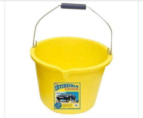 2 x Yellow Invincible Builders Heavy Duty Strong Bucket PB1004Y