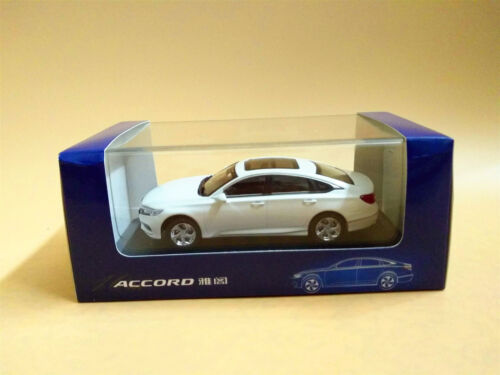 1//43 Scale 10th Generation Honda All New Accord 2018 White Diecast model