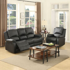 Awesome Oversize 73 Inch Air Leather Recliner Sofa 3 Seater Living Caraccident5 Cool Chair Designs And Ideas Caraccident5Info