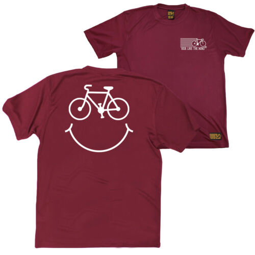 FB Cycling Tee Novelty Birthday Christmas Dry Fit Performance T-Shirt Smile