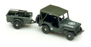 JEEP-BACHE-REMORQUE-ACCESSOIRE-SOLIDO-MILITARY-2-1-43-bachee-USA-US-WORLD-WAR