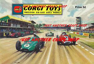 Corgi-Toys-1961-A3-CARTEL-ANUNCIO-FOLLETO-signo-basado-en-la-cubierta-frontal-de-catalogo