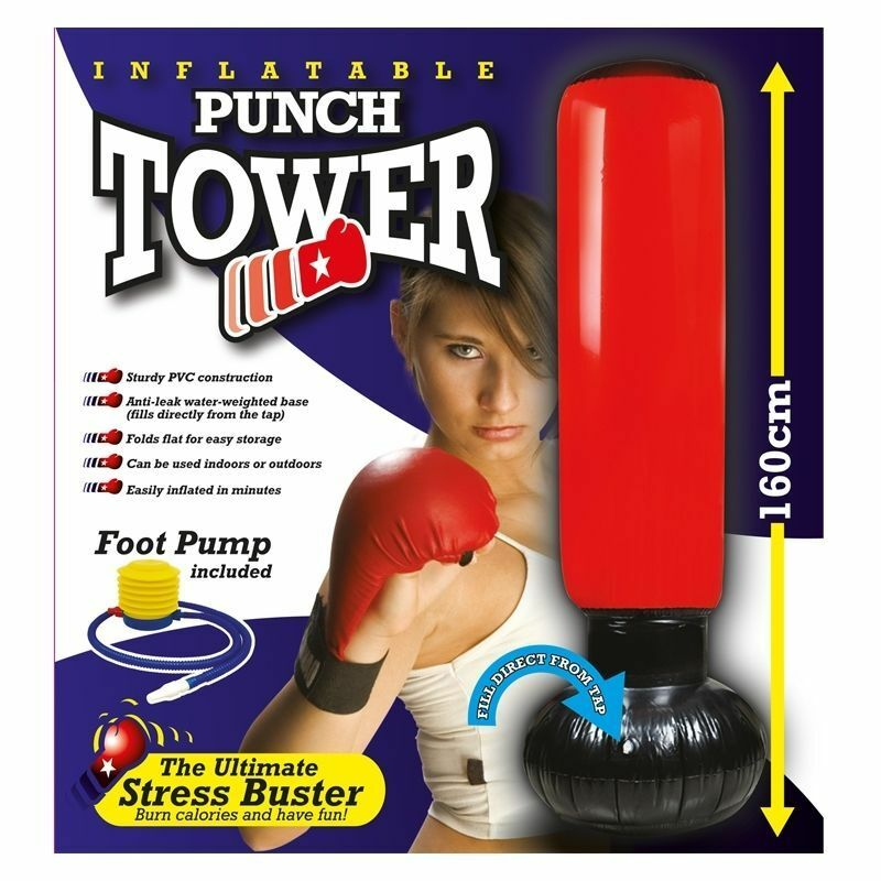 New Inflatable Box Stress Boxing Punch Tower Free Standing Box Inflatable Fun Workout Bag  Pump c166b9