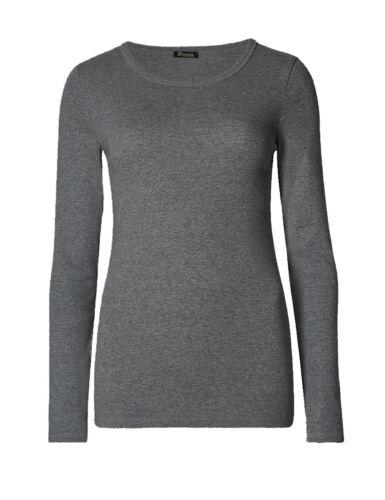 Ladies Long Sleeve T-Shirt Women Round Neck Plain Basic Top Plus Size 8-26
