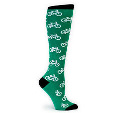 Sock It To Me Women's Knee High Socks - Bikes Green