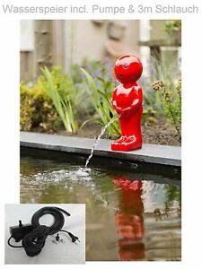 Étang Pompe Gargouille de Jardin Fontaine Figurine Décoration Neuf ...