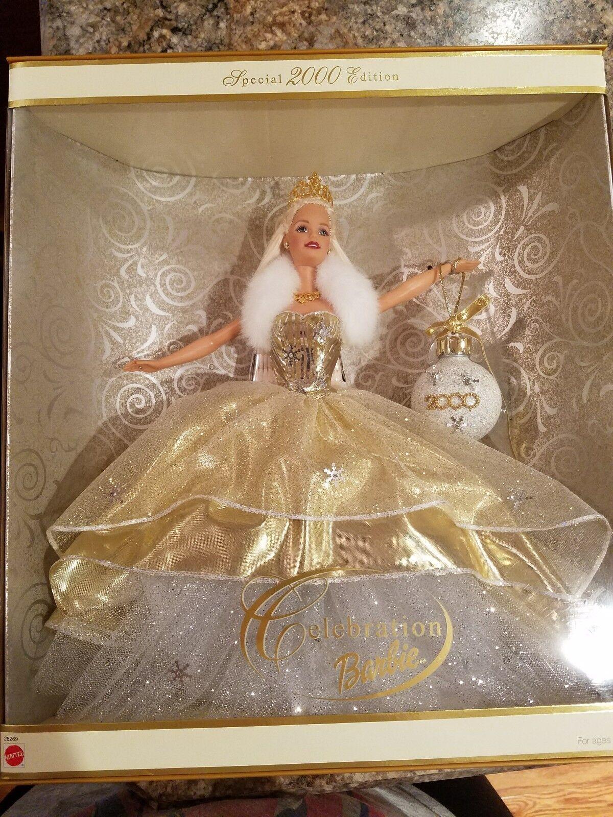 New In Box Barbie Holiday Xmas Celebration Special Year 2000 Ed. Y2K Doll MATEL