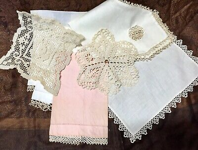 Lot of 10 Vintage Crochet Linen Handmade Lace Doilies brand new in pack