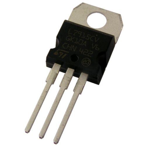 15V TO-220 854829 10 L7915CV STM Spannungsregler 7915 Voltage Regulator 1A