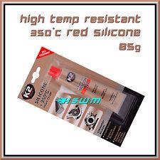 85g High Temperature Silicone +350°C Heat Resistant Glue Adhesive Sealant Red