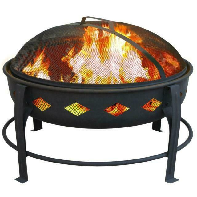 Landmann 21860 Bromley Diamond Fire Pit Black For Sale Online Ebay