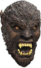 BRAND NEW Wolfman DELUXE ADULT LATEX BROWN FULL MOON HUNTER WEREWOLF MASK