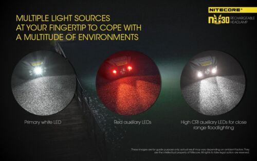 Nitecore NU30 400 Lumens USB Rechargeable Headlamp Black XP-G2 S3 LED