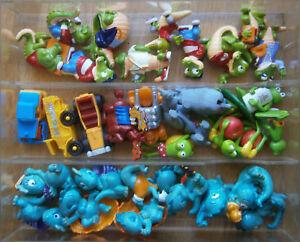 Ü-Ei: Figuren, Autos, Drachen u.a. von1988-1991 Sammlung ca. 62 Teile in Box.