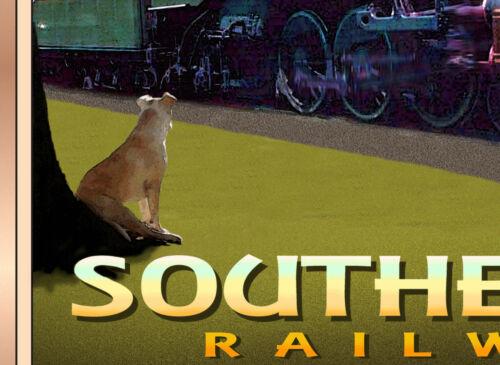 Sheffield AL Tennessean Southern Railway PS4 Pacific Train Poster Art Print 291