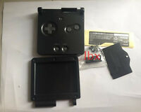 DS Black Full Housing Shell Case Cover Part f Nintendo GBA SP Gameboy Advance SP