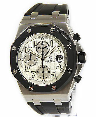 Audemars Piguet Mens Royal Oak Offshore Chronograph RubberClad Steel Watch 25940