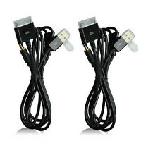 Dock 30 pin USB 3.5mm AUX Car Audio Data Charger Cable for iPod iPhone 4 4s 3G