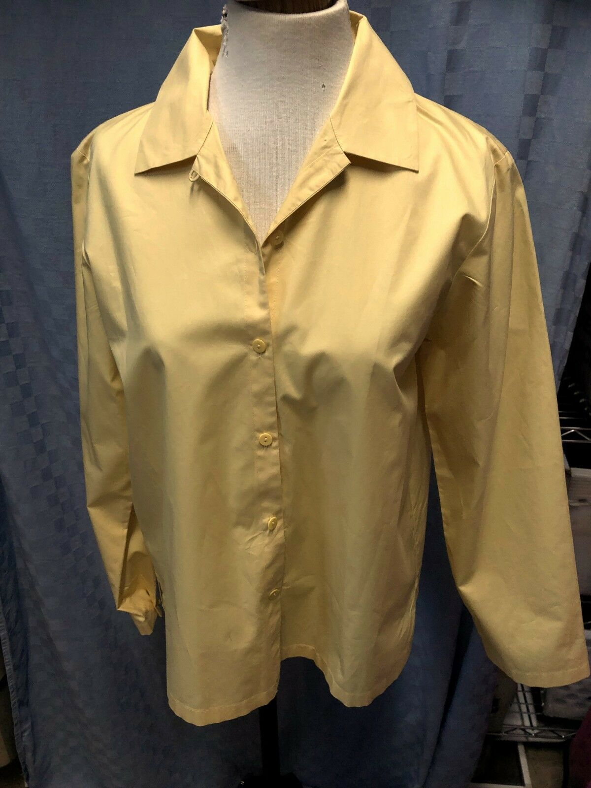 EILEEN FISHER BOXY COTTON Gold Blouse Tunic TOP Größe EXTRA SMALL XS  CHEST 40
