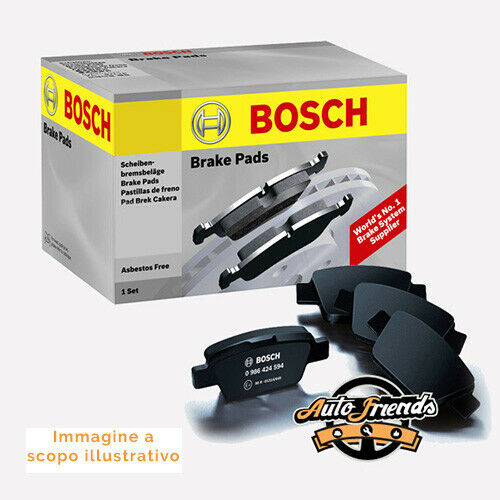 BOSCH 0986494321 Kit pastiglie pattini, Freno a disco Cambio manuale anteriore