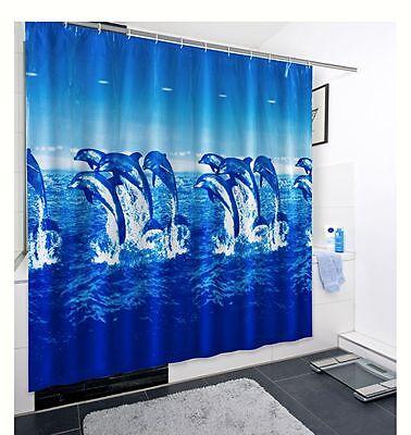 Duschvorhang Badevorhang Design Vorhang Badewanne Polyester Metallösen 180x200cm