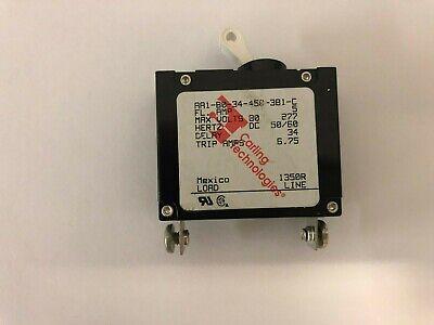 50//60 Hz Carling Switch Circuit Breaker 5A 250v BA1-B0-22-450-211-D