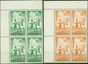 New-Zealand-1940-Health-Stamps-set-of-2-SG628-629-in-Superb-MNH-Corner-Blocks