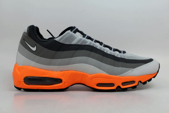 hot sale online 751eb 6b59c Nike Air Max 95 No Sew Light Base Grey Laser Orange-Iron 616190-
